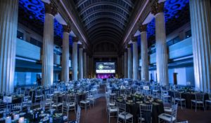 corporate gala event production in large hall