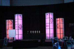 LED light towers for digital branding