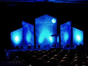 Ameriprise Financial event stage lighting