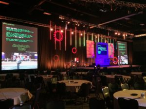 CodeMash 2019 stage and screen display