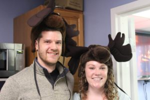 CSR employees wearing reindeer ears