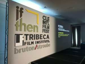 event branding at the Cleveland International Film Festival