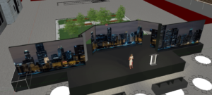 3D rendering of event production