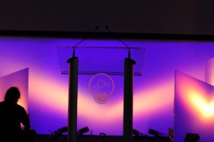 LED lighting on event stage