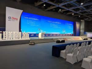 CE China conference screens and stage