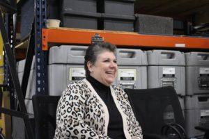 CSR employee smiling