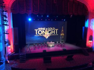 Wine & Gold Tonight event screen for Cleveland Cavaliers