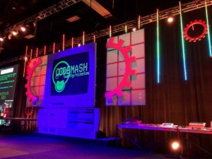 custom event stage at Codemash