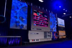 custom stage and lighting at CodeMash 2019