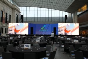 Greater Cleveland Partnership event screens