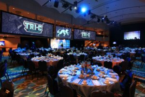 digital branding and signage at fundraising gala
